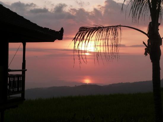 Puri Lumbung Cottages: coucher de soleil