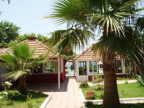 Safak Beach Hotel: Zugang zum Außenbereich Pool / Restaurant / Bar