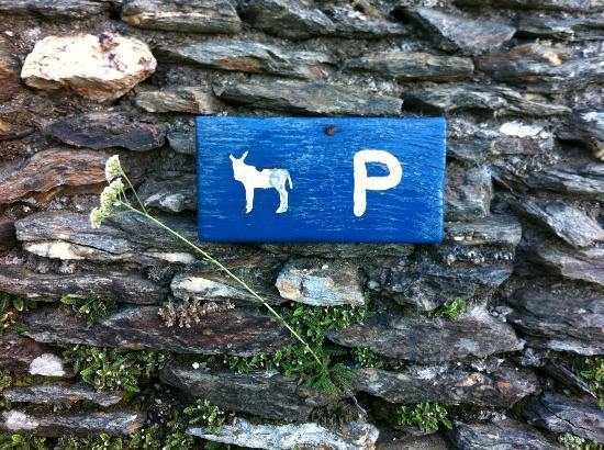 Le Mas du Seigneur : Hier werden Esel während der Wanderpausen abgestellt.