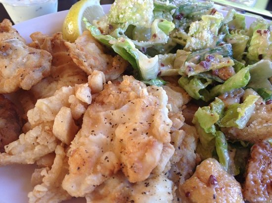 Classic Cafe: cod tongues with scrunchions