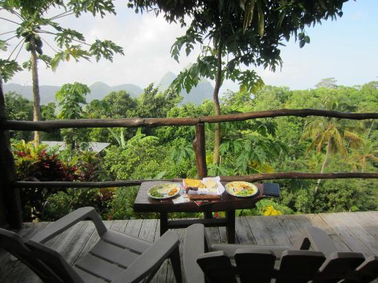 Crystals St Lucia: Complimentary Breakfast with the best view!