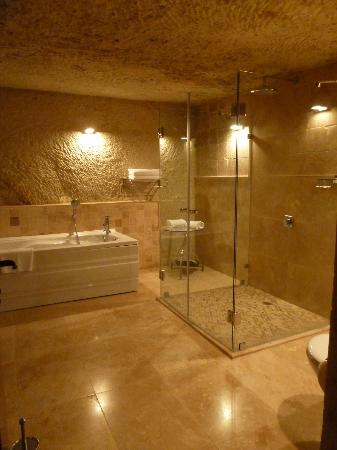 "Cappadocia Castle Cave Hotel: Beautiful remodeled ""cave"" bathroom"