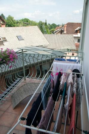 Traveller's Haven: Air dry your clothes on the 2nd floor balcony