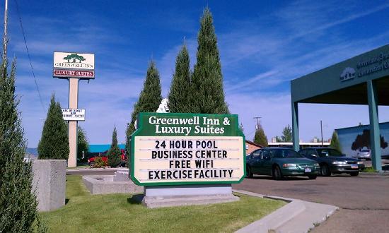 The Greenwell Inn: Hotel signage