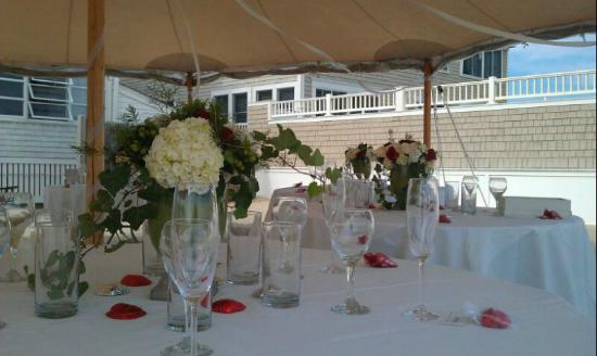 By the Sea Guests: wedding set up at the b & B