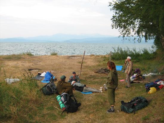 Bajkał, Rosja: Acampada en Baikal