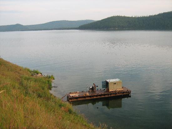 Bajkał, Rosja: Pescando