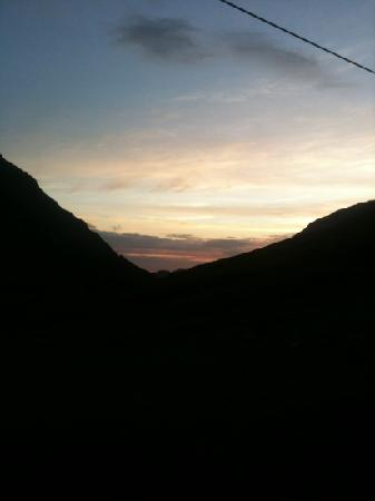 YHA Black Sail: beautiful sunset looking towards Ennerdale.