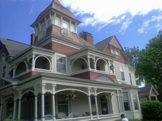 The Grand Victorian B&B: The Balcony Room is the one on the right. The other balcony is accessable from the main hallway