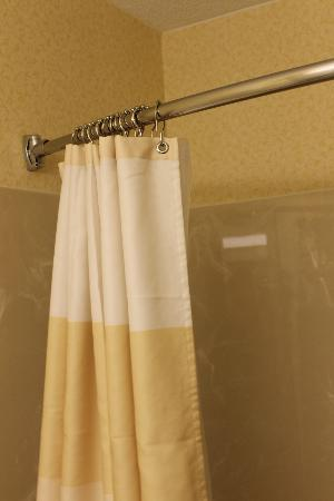 Fairfield Inn & Suites Sioux Falls: Rounded shower curtain