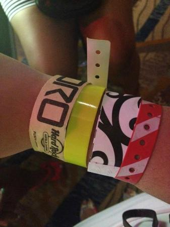 Wristbands For Casino And Oro Picture Of Hard Rock Hotel
