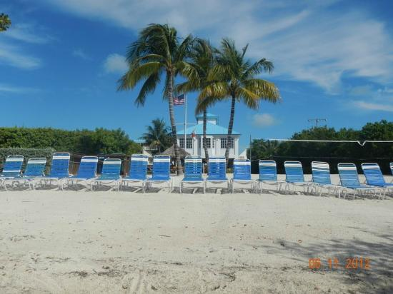 Ocean Pointe Suites at Key Largo: Looking back at the beach area and the main building