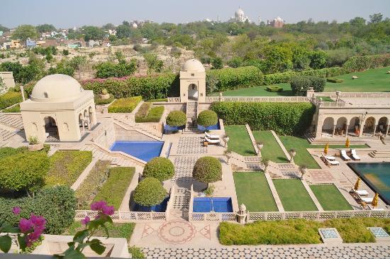 The Oberoi Amarvilas: le Taj Mahal vu depuis la piscine