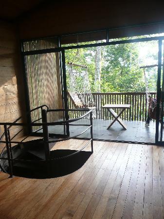 Hamadryade Lodge: le balcon de la chambre
