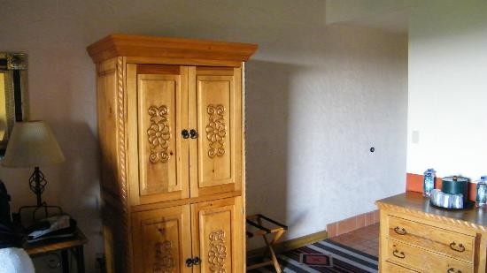 Esplendor Resort at Rio Rico : tv cabinet, lower portion held a small fridge