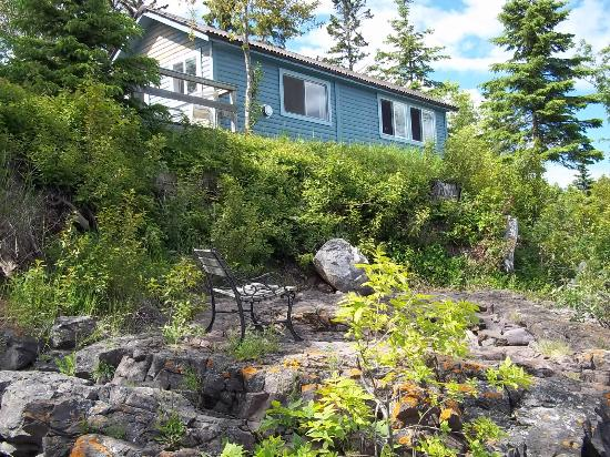 Bob's Cabins on Lake Superior's North Shore: View from the shore