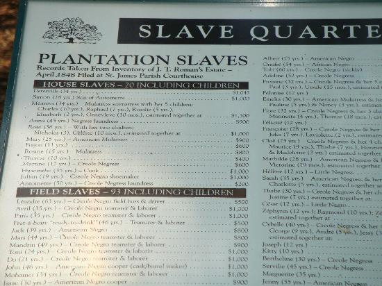 The Cost of Owning Slaves - Picture of Oak Alley ...
