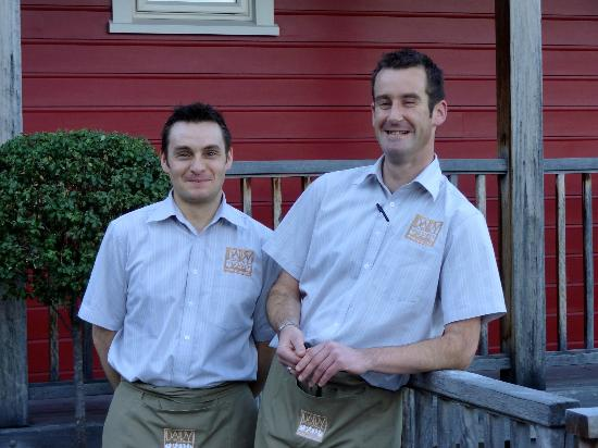 "The Dairy Private Hotel: Matt and Paul the proprietors  of the ""Dairy"""