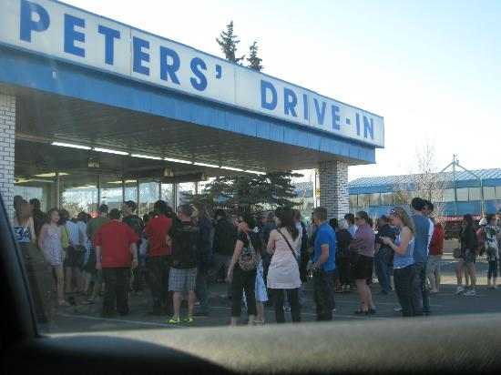 Peters' Drive-In : How many people.......