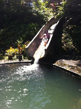 Rafiki Safari Lodge: Water slide at resort