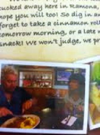 Ramona Cafe: Diners, Drive-In's & Dives featured diner menu