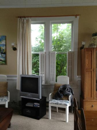 Cottage on the Cove: Side windows in living-room