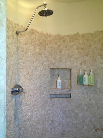 Waldorf Astoria Spa: A spiral shower with Golden Door amenities