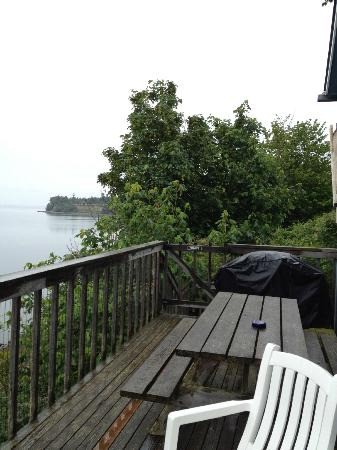 Cottage on the Cove: View from the right side of the deck