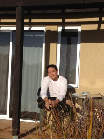 Pacific Allure Heights: A small round table for smokers. It is also nice to hv a nice afternoon coffee or morning breakf