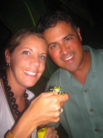 The frog night tour at The Peace Lodge