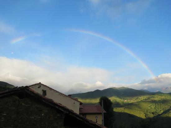 La Casa de las Chimeneas: morning rainbow from our bedroom window