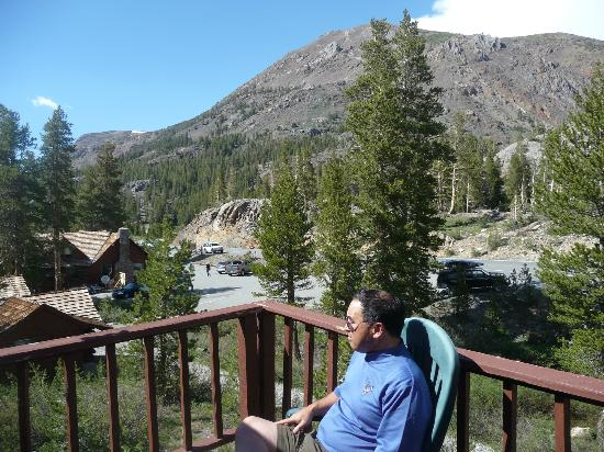 Tioga Pass Resort: view from motel room 1 of adjacent mountain