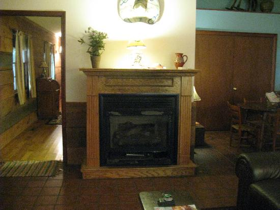 Pilot Knob Inn: Fireplace in living room