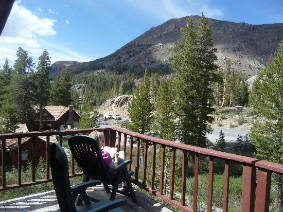 Tioga Pass Resort: View of mountain adjacent from motel room 1