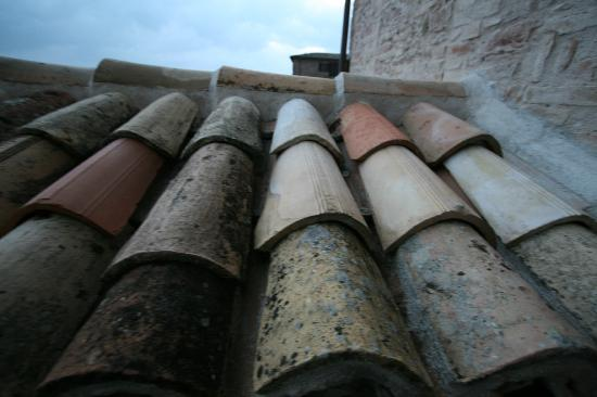Hotel Posta Panoramic: Roof tile near dining terrace