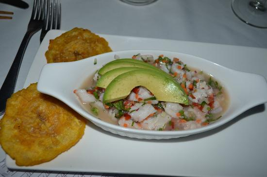 Florblanca Resort: ceviche with parrot fish