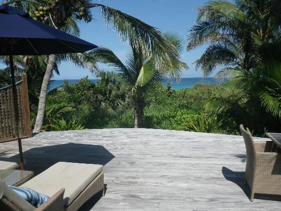 بينك ساندز ريزورت: View from our private deck. 