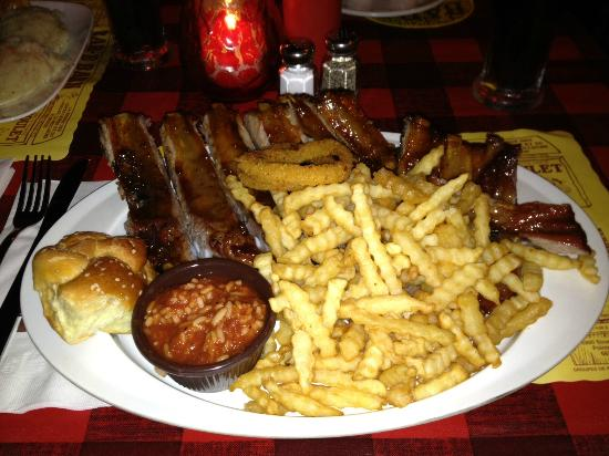 "Bar B Barn : ""Whole Hawg"" Rib dinner!"