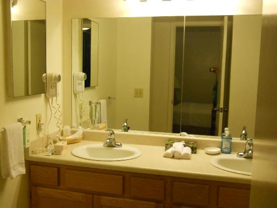 Pines Motel: Huge bathroom - double sink!