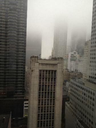 Club Quarters Hotel, opposite Rockefeller Center: View from room 23th floor