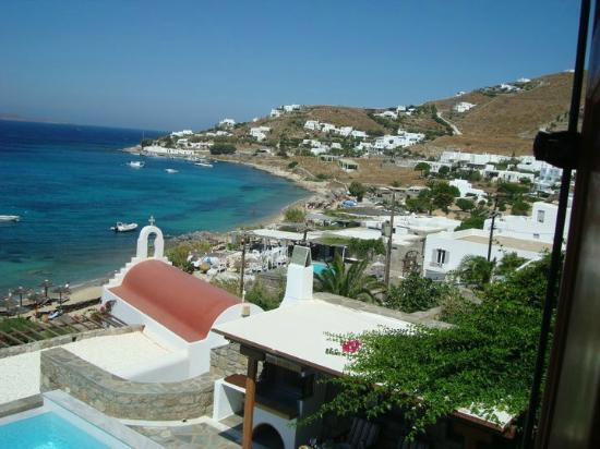 Mykonos Grand Hotel & Resort: παραλια ξενοδοχειου