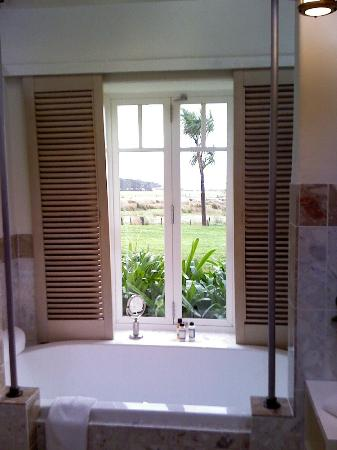 Wharekauhau Country Estate: View from the bathroom