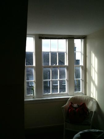Castle Apartments: Inadequate window covering