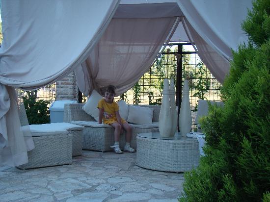 Villa Olga Lounge Hotel: Во дворе 