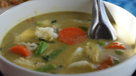 Krua Kritsana: Seafood Green Curry! Unique taste!