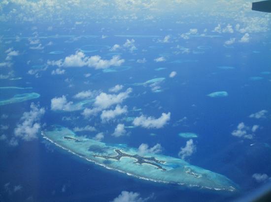 Vaavu Atoll: l'atollo dall'alto