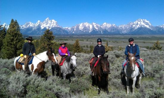 Triangle X Ranch : Scenic views no matter which direction you ride out!