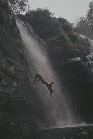 Cascadas Farallas Waterfall Villas: Backflip at Nauyaca Falls