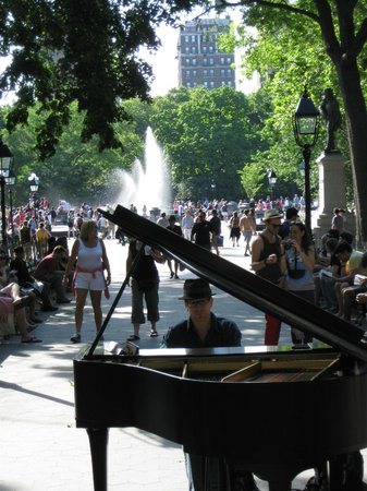 Rock Around the Block Tours: Washington Sq. Park pianist. Ask Bob why he is allowed to play there. Good story.