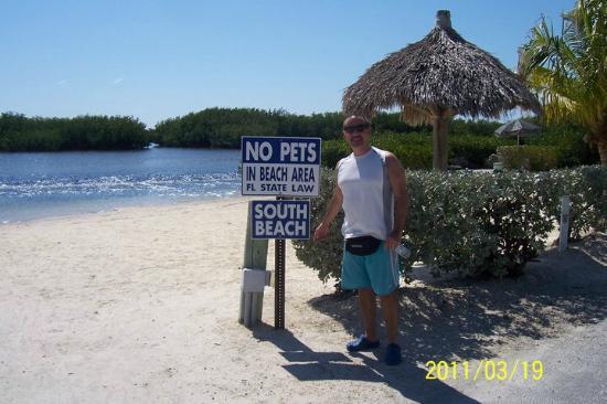 Key Largo Kampground and Marina: One of the 2 private beaches at Key Largo Kampground